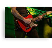 Guitar Action Canvas Print