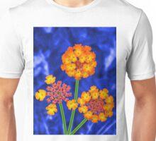 Three Firework Flowers Unisex T-Shirt