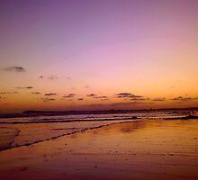 Red Sky 2- Ocean Grove by Rowena Fuller