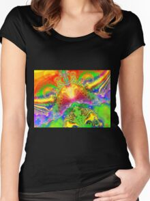 Psychedelic World Women's Fitted Scoop T-Shirt