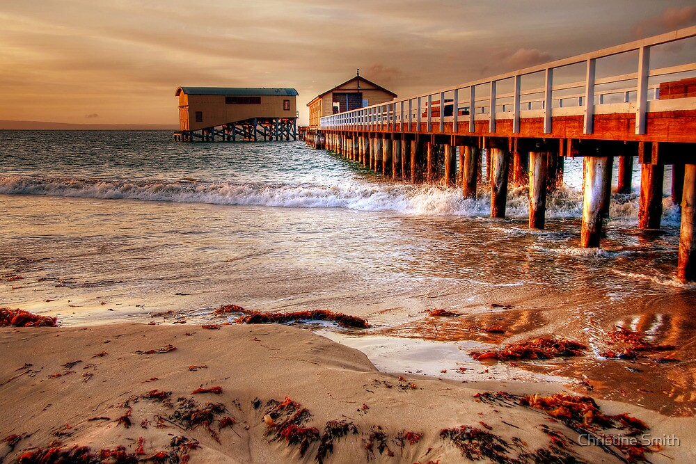 The Queenscliff Pier and Lifeboat Complex by Christine Smith