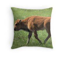 Bison Calf Throw Pillow