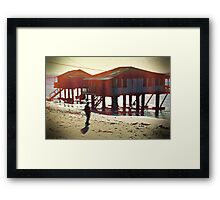 he calls serenity the deep blue shadow that chants to him every night Framed Print