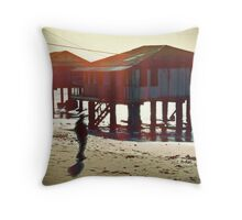 he calls serenity the deep blue shadow that chants to him every night Throw Pillow