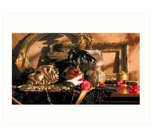 Romantica Noir Art Print
