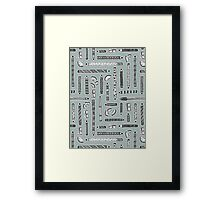 Tools of the Trade Pattern Framed Print