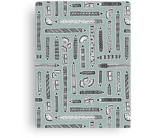 Tools of the Trade Pattern Canvas Print