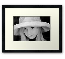 The Girl in the Hat Framed Print