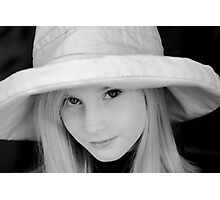 The Girl in the Hat Photographic Print