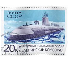 The Soviet Union 1970 CPA 3913 stamp Nuclear Submarine Leninsky Komsomol cancelled USSR Poster
