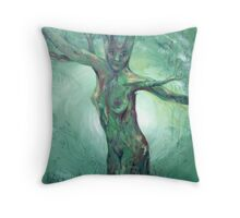 Forest Mother - celtic goddess Throw Pillow