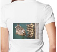 Getting Your Ducks In A Row.... Womens Fitted T-Shirt