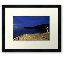 Blue Eve - Blue Lagoon Resort, Micronesia Framed Print