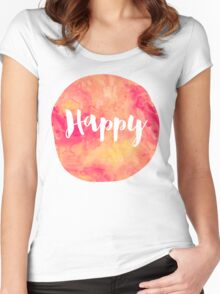 Happy Women's Fitted Scoop T-Shirt