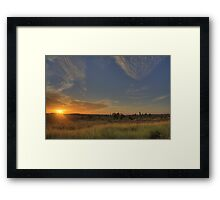 Panna Sunset Framed Print
