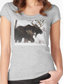 Moose Bros. #2 Women's Fitted Scoop T-Shirt