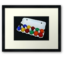 Coloured Eggs Framed Print