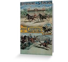 Poster 1890s St Ponchon affiche Greeting Card