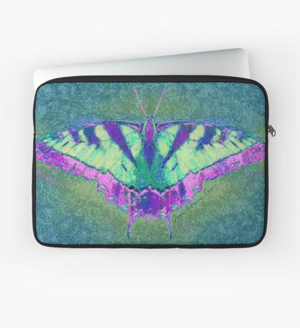 BUTTERFLY PLEASES WHEREVER IT GOES Laptop Sleeve