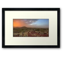 Colours of the Pilbara Framed Print