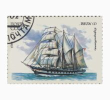 Sailing ships of the Soviet Union stamp series 1981 1981 CPA 5231 Марки СССР   6 к Баркентина «Вега» I USSR One Piece - Short Sleeve