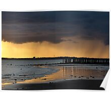 Dramatic sky at Gyles Quay, Co Louth Poster