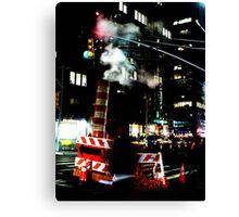 Steamy night in NY Canvas Print