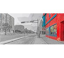 The Red Diner Photographic Print