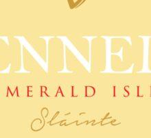 Irish Names Kennedy Sticker