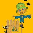 Halloween greeting card by Richard Laschon