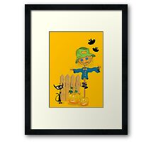 Halloween greeting card Framed Print