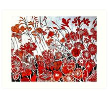 Symphony in Red Art Print