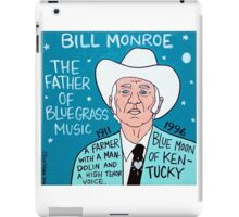 Bill Monroe Bluegrass Pop Folk Art iPad Case/Skin