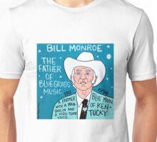 Bill Monroe Bluegrass Pop Folk Art Unisex T-Shirt
