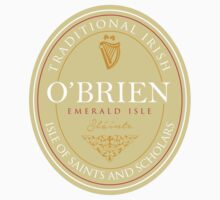 Irish Names O'Brien One Piece - Short Sleeve