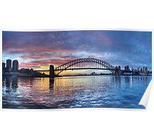 Colours Of Morning - Sydney Harbour, Sydney Australia Poster