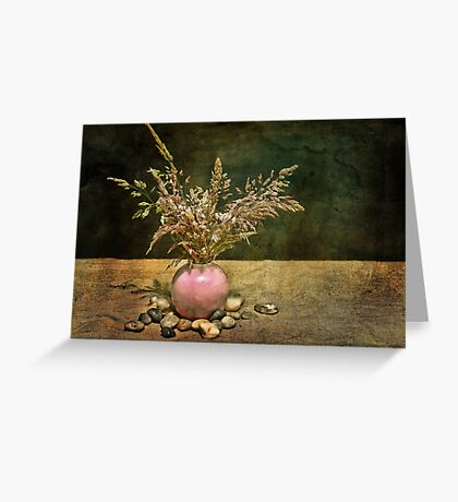 Grasses and Stones Greeting Card