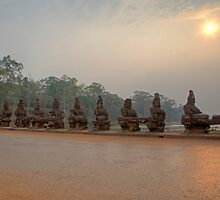 Angkor Thom Main Gate by Artimagery