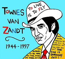 Townes van Zandt Pop Folk Art by krusefolkart