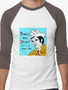 Townes van Zandt Pop Folk Art Men's Baseball ¾ T-Shirt