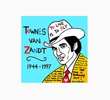 Townes van Zandt Pop Folk Art Unisex T-Shirt