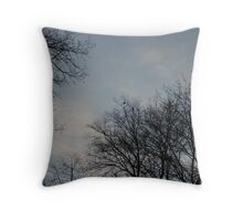 trees on a winter's day Throw Pillow