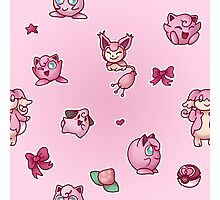 Pink Pokemon Photographic Print