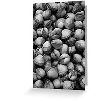 Cockles - market in Barcelona Greeting Card