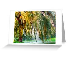 Weeping Willow Tree Daydreams Greeting Card