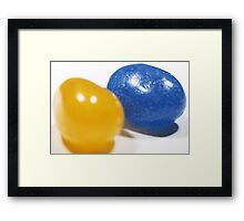 Blue and Yellow Jelly Beans Framed Print