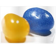 Blue and Yellow Jelly Beans Poster