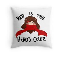 Red is the hero's color Throw Pillow