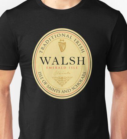 Irish Names Walsh Unisex T-Shirt