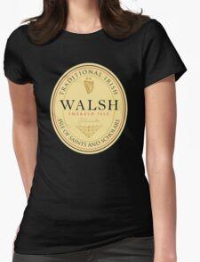 Irish Names Walsh Womens Fitted T-Shirt
